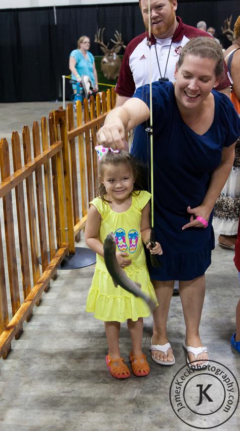 Audrey Caught Fish Children Portrait Photography