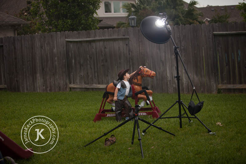 Children Portrait Photography Setup Behind the Scenes