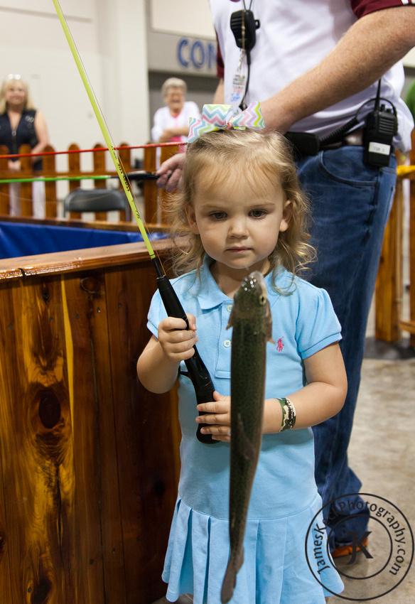 Amelia Caught Fish Children Portrait Photography