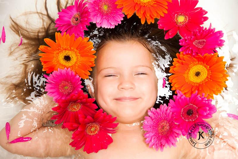 Children Portrait Photography, Gerbera Daisies, flowers, Houston