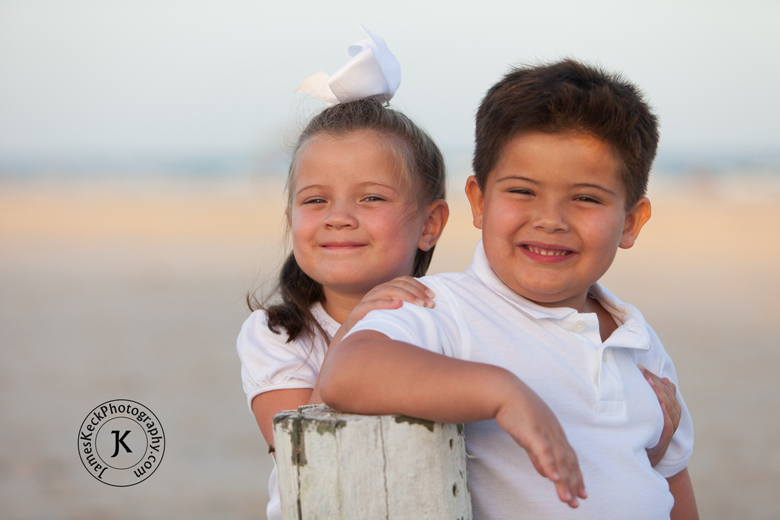 Brother and Sister Beach Portrait