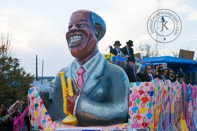 Blues and Jazz Mardi Gras Float