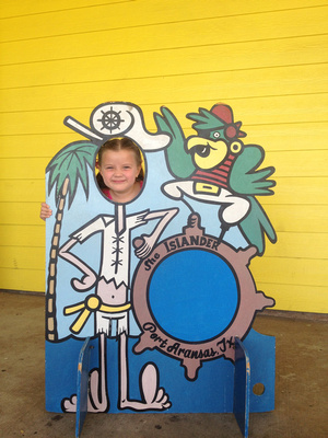 Girl in Posed Portrait with Pirate