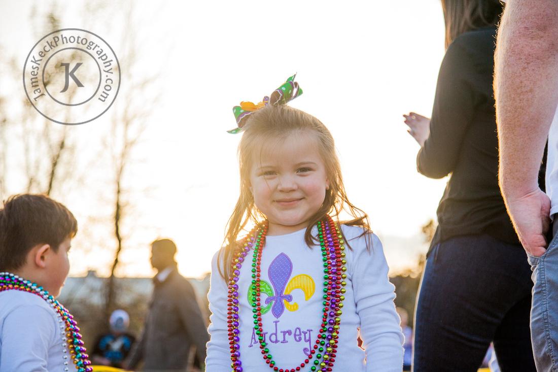 Audrey at Mardi Gras Parade
