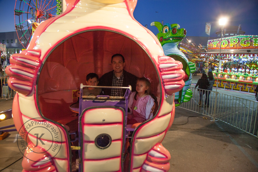 William, Audrey, and Me Riding Spinner Ride 1
