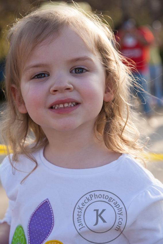 Amelia at Mardi Gras Parade