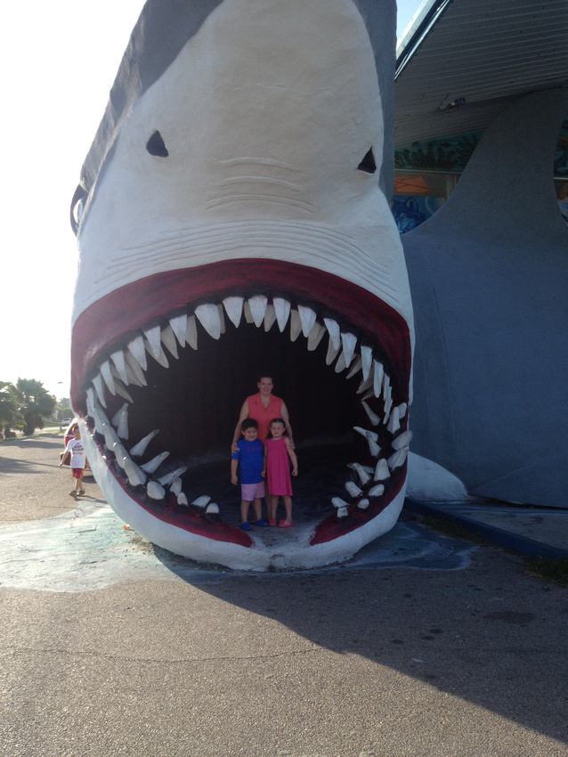 Portrait of Mother, Son, and Daughter in the Mouth of Shark