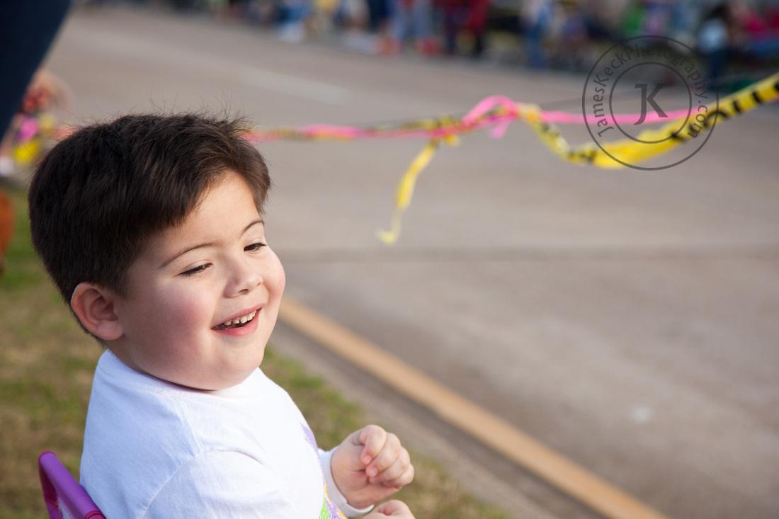 William at Mardi Gras Parade