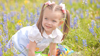 Little Girl in Texas Wildflowers Photograph