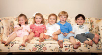 Portrait of Smiling Group of Toddlers on Couch-6