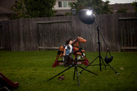 Lighting Setup of Cowboy and Toy Horse