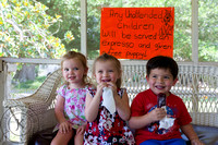 Children Enjoying Blueberry Popsicles at Shuqualak Farms