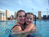 Portrait of Mother and Daugter in Swimming Pool