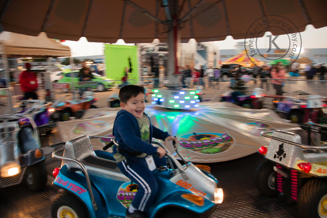 William Riding Dune Buggy at Houston Rodeo