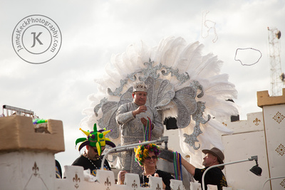 King of the Krewe of Gemini Parade