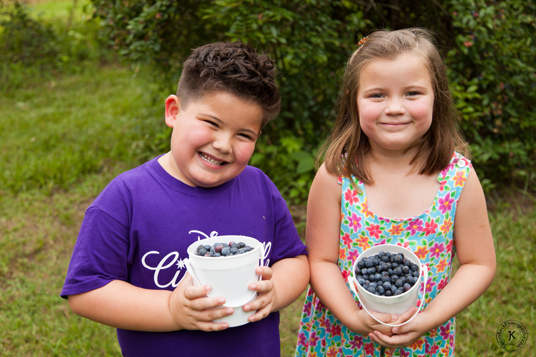 Twins with Blueberries