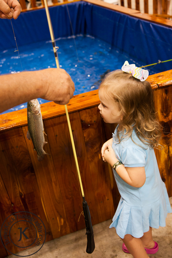 Amelia Touching Fish Children Portrait Photography