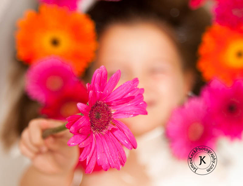 Children Portrait Photography, Gerbera Daisies, flowers, Houston