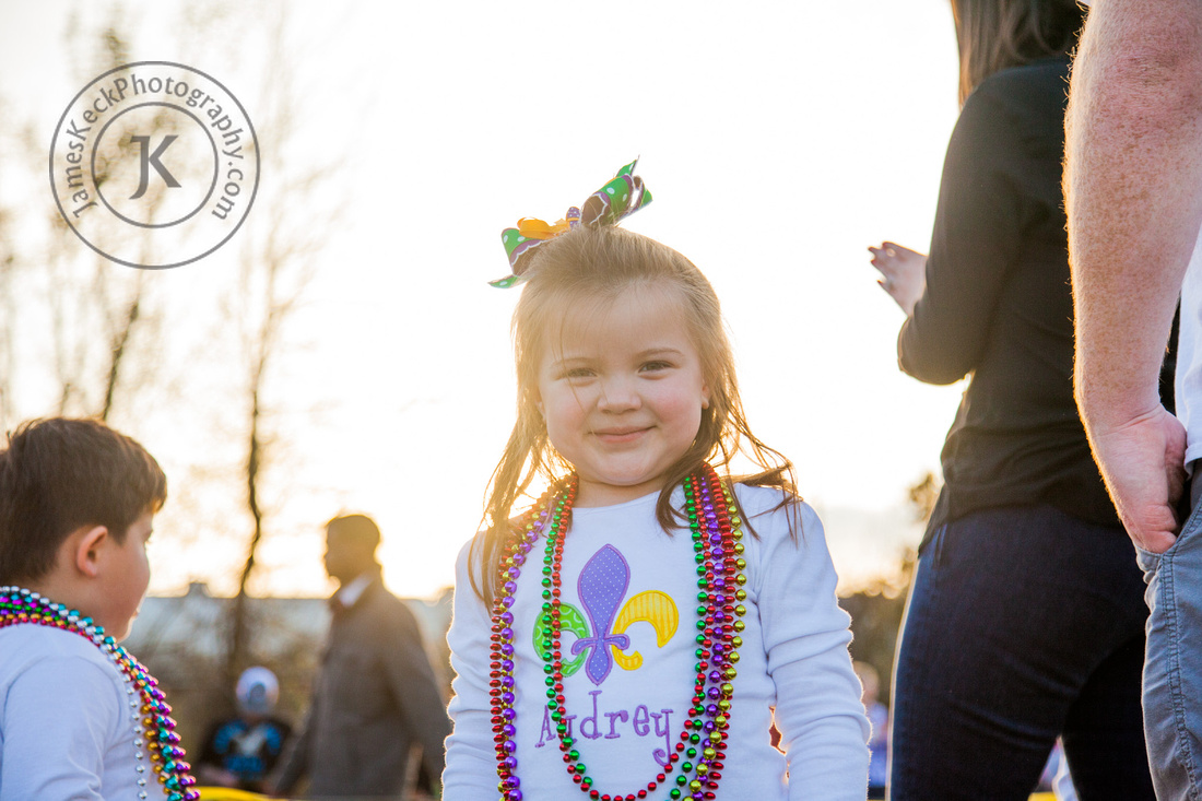 Audrey at Mardi Gras Parade