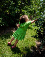 Audrey Picking Blueberries