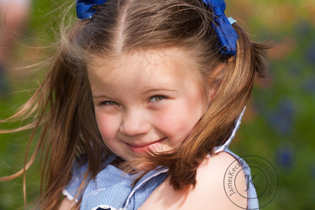Portrait of Girl in Wildflowers